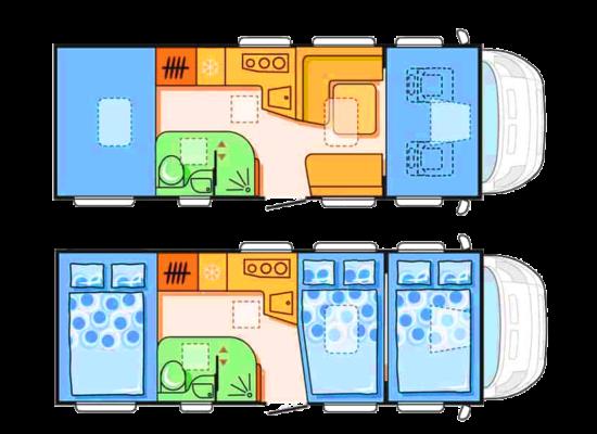Grafik-Innenraum Alkoven